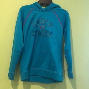 Blue kids medium under armour sweatshirt